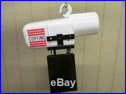 Coffing JF Electric Chain Hoist 1/2 Ton 1000 Lbs 3 PH 10' Ft. Lift 16 FPM