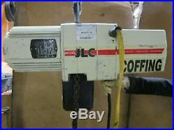 Coffing Jlc4008-3-10 2 T Ton 4000lbs Electric Chain Hoist 230/460v 3ph 120 Drop