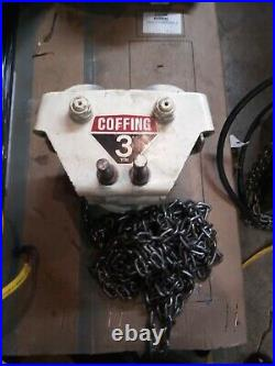 Coffing electric chain Hoist 3 ton Geared Trolley with 15 x 2 ft drop chain