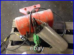 Columbus Mckinnon CM LodeStar 2 Ton Electric Chain Hoist with Manual Trolley