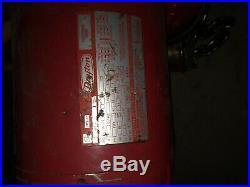DAYTON 2 TON CHAIN HOIST With 9N100B 1 HP AC MOTOR 230/460 VOLTS, 1725 RPM