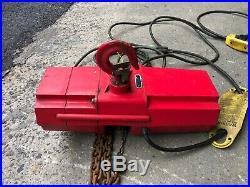 DAYTON 4GU71 Electric Chain Hoist, 500 lb, No Trolley, Free Shipping
