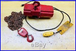 DAYTON # 4Z811 Electric Chain Hoist 500 lb. 10 ft. Hook Mounted