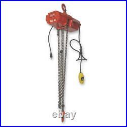 DAYTON 4ZY98 Electric Chain Hoist, 800 lb, 10 ft