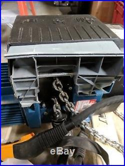 DEMAG DC Electric Chain Hoist, 4400 lb, 16 ft. Com 10-2000 2/1 H5 V4.8/1.2 575/60