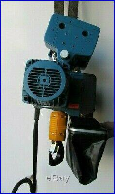 DEMAG DC PRO 10 4000 LB 2 TON ELECTRIC CHAIN HOIST WithTrolley