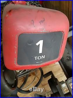 Dayton 1 Ton Electric Chain Hoist #3Z375B, 8 FPM Chain Speed, 1 Hp, 230/460/3/60
