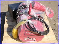 Dayton 2 Ton Capacity 15-Foot Lift Electric Chain Hoist 115v 2GXH7A