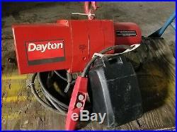 Dayton 2 Ton Electric Chain Hoist Model 3YB82