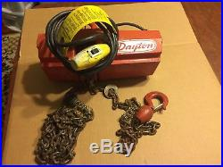 Dayton 300 lb Electric Chain Hoist 115v 1 Phase 10