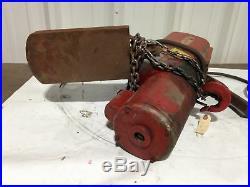 Dayton 3Z372B 1 Ton 10ft Electric Chain Hoist 1PH