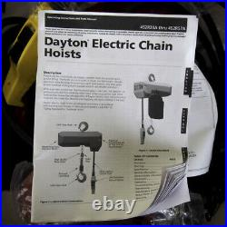 Dayton 452R44 H4 Electric Chain Hoist 2,000 lb Load Capacity
