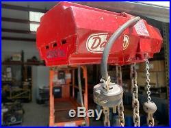 Dayton 4Z811 500 lb electric chain hoist 15 ft lift (115v)