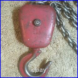 Dayton Electric 500lb Chain Hoist 4GU71 HHXG12 8fpm Lift 10