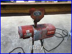 Dayton Electric Chain Hoist 1/2Ton, with Rolling Trolley And 10 I-Beam
