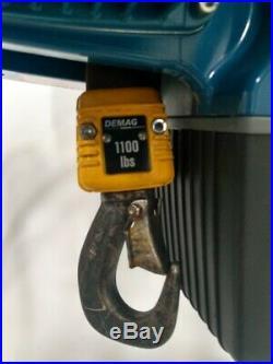 Demag DCS Pro 5-500 1/1 H5 VS8-15 Electric Chain Hoist 1100 lb 16' Lift 380/460V