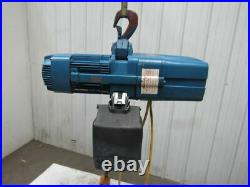 Demag DKUN-10-1000K-V2F4 2200lb Electric Chain Hoist 27' Lift 460V 2 Speed 50FPM