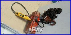 Duff lynx 500 lbs Chain hoist Crosby Hook 110V Electric Budgit Switch Dayton
