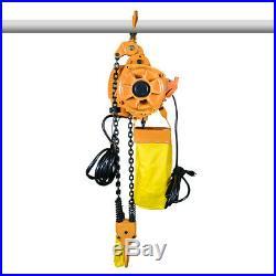 Electric Chain Hoist 2 Ton 4400 lb. Double Chain Electric Crane Hoist 10ft Lift