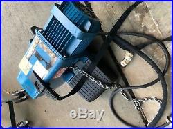 Electric Chain Hoist, 2200 lb, 16 ft. DEMAG DC Com 10-1000 1/1 H5 V7,2/1,8