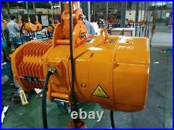 Electric Chain Hoist, 2200lbs Capacity 10' Lift 380V 50HZ 3 Phase