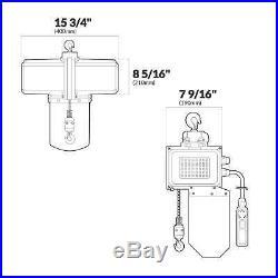 Electric Lift Chain Hoist Single Phase (120V/60HZ 1/2 Ton/1100LBS)