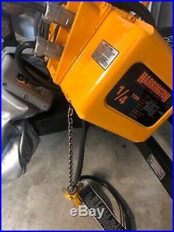 HARRINGTON 1/4 TON ELECTRIC CHAIN HOIST 208-230/460V 3 PHASE IBBQ set up @ 460V