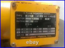 HARRINGTON 1ton Electric Chain Hoist NER010L With power trolley 230V/460V 3p 1 Ton