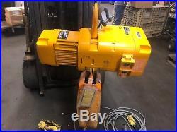 HARRINGTON 2 TON ELECTRIC CHAIN HOIST 15 Chain N ERL020L 14 FPM 460V 3 Phase