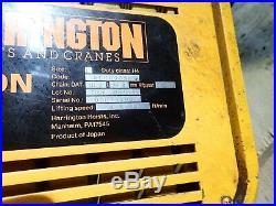 HARRINGTON 2 TON HOIST MR020L NER020SD Chain Electric 4000 Pound LB