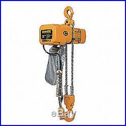 HARRINGTON Electric Chain Hoist, 6000 lb, 20 ft, SNER030C-20, Yellow