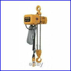 HARRINGTON NER020L-10 2 Ton Electric Chain Hoist Top Hook, 4000lb, 10FT, 230/460V