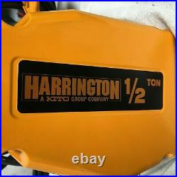 HARRINGTON SEQ005SD-20 H4 Electric Chain Hoist 1,000 lb Load Capacity 115V 20 ft