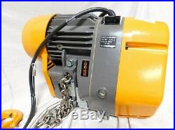HARRINGTON SEQ010SD-20 H4 Electric Chain Hoist, 2000 lb. Load Capacity, 115V