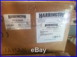 Harrington 1/2 Ton Chain Hoist 15 ft lift 230 Volt with manual trolley