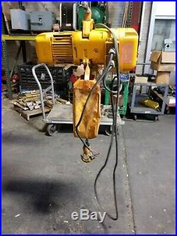 Harrington 1/2 Ton Electric Chain Hoist 208-230/460v 16' Lift 3 Phase Ibbq