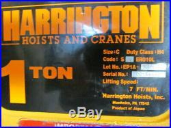 Harrington 1 Ton Electric Chain Hoist