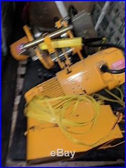 Harrington 10 Ton Electric Chain hoist with motorized trolley