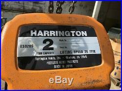 Harrington 2 Ton Electric Chain Hoist