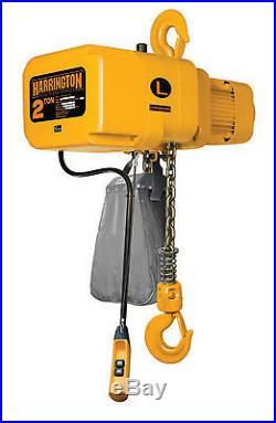 Harrington 2 Ton Electric Chain Hoist NEW 10' lift NER
