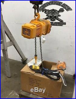 Harrington 3PH 1Ton ER010S 40 Lift Electric Chain Hoist NIB