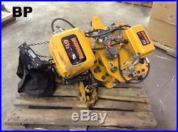 Harrington 6-1/2 Ton Electric Chain Hoist with 7.5FPM Chain, 3PH & 40FPM Trolley