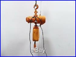 Harrington ES020L 2 Ton 4000 lb Electric Chain Hoist 20' Lift 13 FPM 3PH Tested