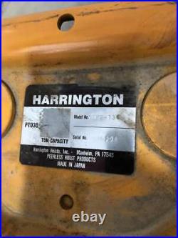 Harrington ES3B-1386 5 Ton 20ft Electric Chain Hoist 10.5/3.5FPM ES050SD 3PH