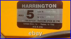 Harrington ES3B-3423 5 Ton Electric Chain Hoist 10.5/3.5FPM ES050SD 3PH
