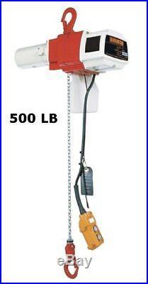 Harrington Ed Mini Electric Chain Hoist, 525 Lb Capacity