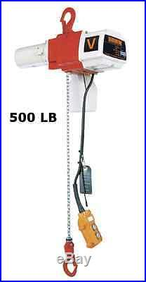 Harrington Ed-v Mini Electric Chain Hoist, 500 Lb Capacity