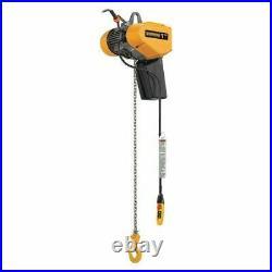 Harrington Eq005sd-10 Electric Chain Hoist, 1,000 Lb, 10 Ft, Hook Mounted No
