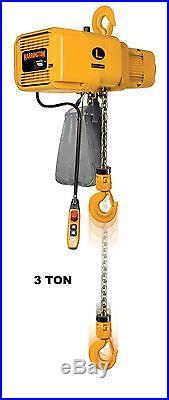 Harrington Er Electric Chain Hoist, 3 Ton Capacity