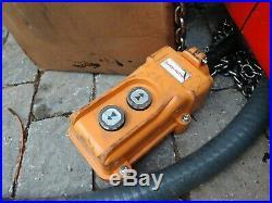 Harrington H2 Electric Chain Hoist 500 lb. Load Capacity ED500V-10 120V